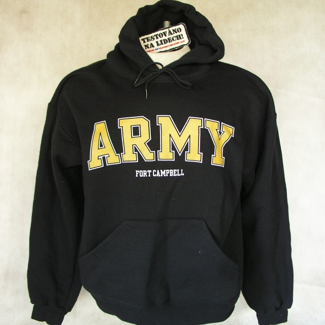 Mikina US Army Fort Cambell černá  d2c0edfe62
