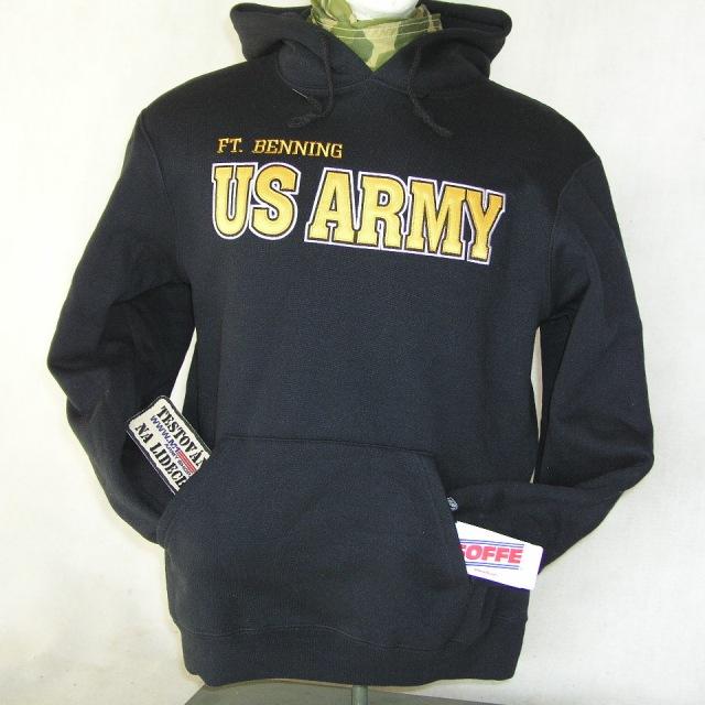 Mikina černá U.S.Army patch Ft. Bng  74e2df145b