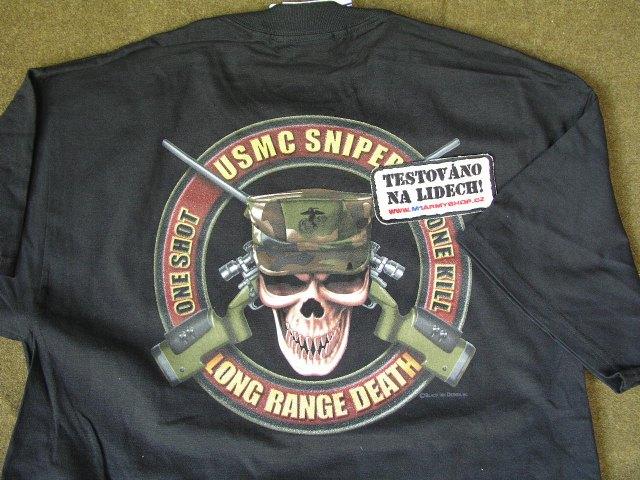 Tričko USMC Sniper  0314ffa134