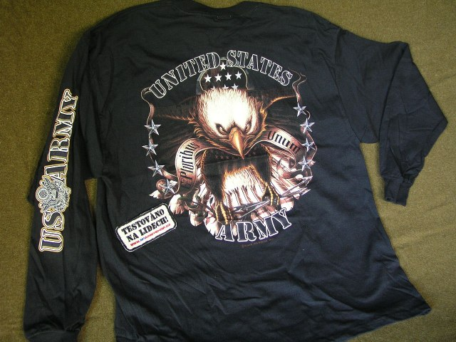 Tričko s rukávem U.S. Army Eagle  25c0496fb8
