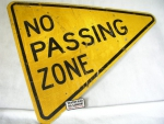 Cedule No passing zone