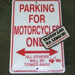 Cedule Motorcycle Parking Only