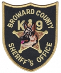 K9 Broward County nášivka