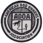 American Dog Owners Association nášivka